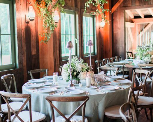 Barn Wedding with Crossback Chairs