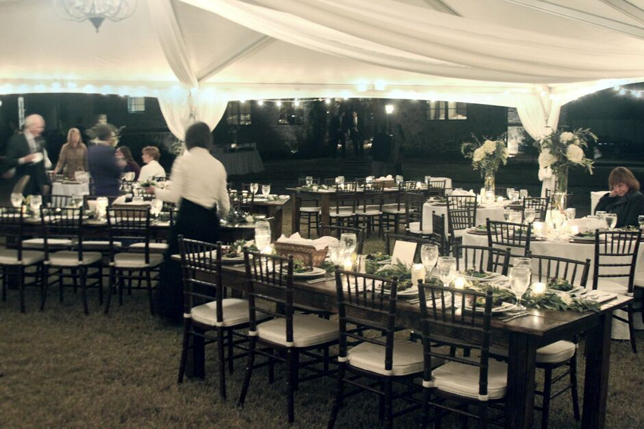 Oconee Events Table, Chair, Light, Tent Rentals-- Wedding Athens, GA