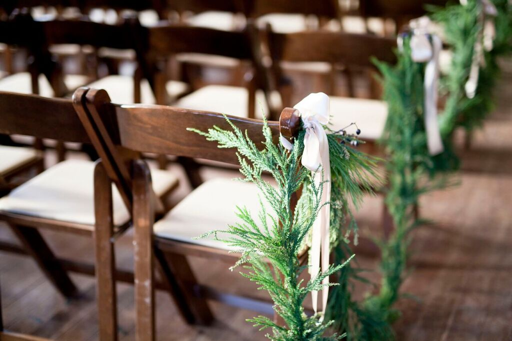 Oconee Events brown folding chairs-- Wedding Athens, GA