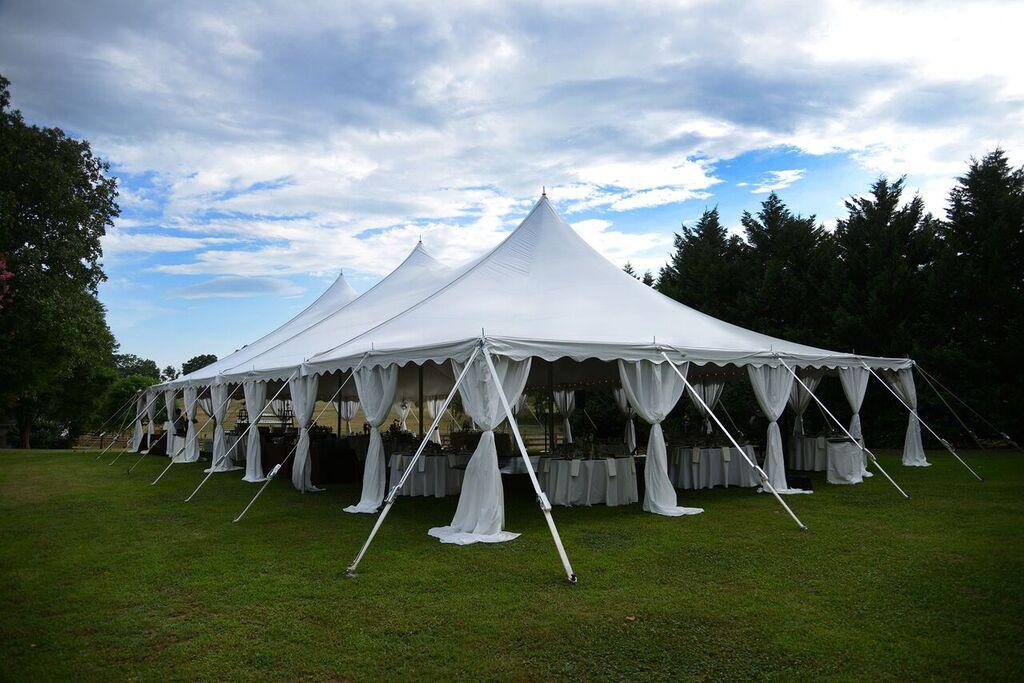 Oconee Events high peak tent rentals-- Wedding Athens, GA