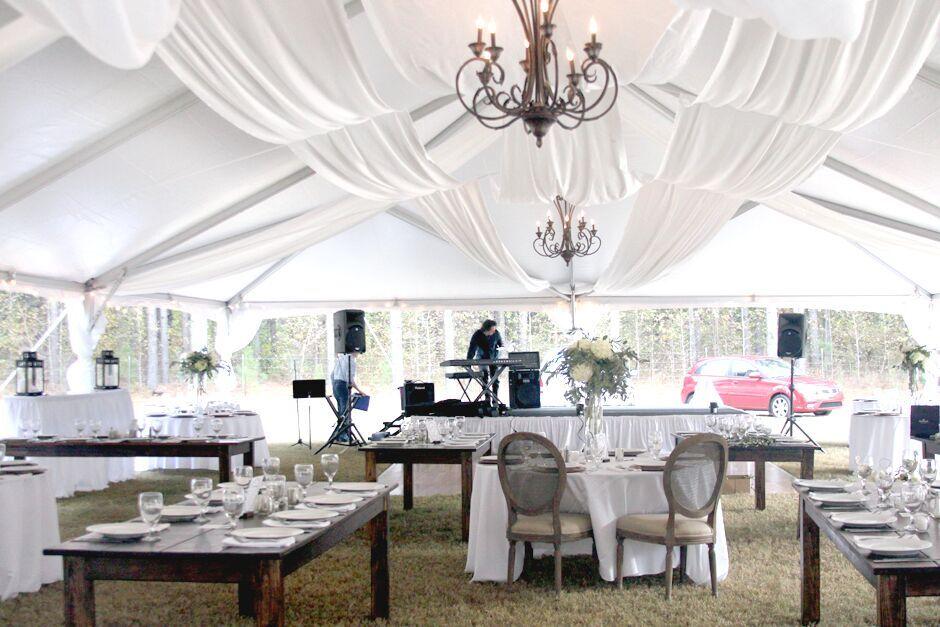 Oconee Events perfect tent rentals-- Wedding in Athens, GA