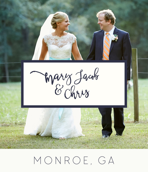 Oconee Events Mary Jacob and Chris Monroe GA Wedding