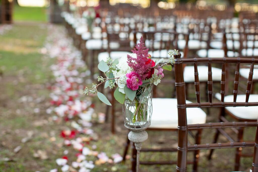 Oconee Events dark Ceremony chairs-- Weddings Athens, GA