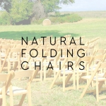 natural folding chairs