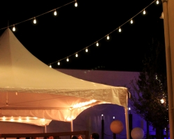 Oconee Events - Cafe String Lighting at Little Kings - Downtown Athens Weddings
